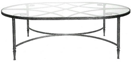 101155 OVAL STEEL COCKTAIL TABLE