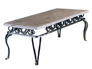 300-201 (FORMERLY 20101-10) QUEEN ANNE LEG RECTANGLE STEEL COCKTAIL TABLE