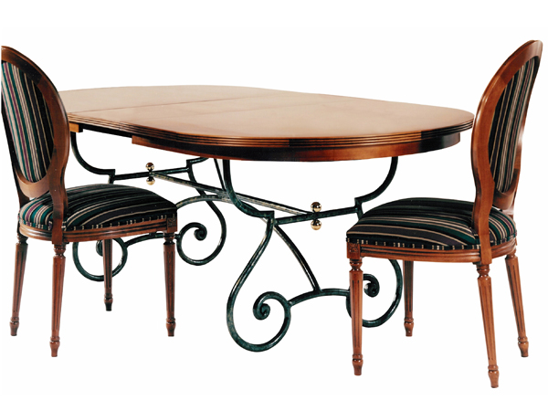 DRB TRESTLE DINING TABLE OVAL Creative Metal Wood - Oval trestle dining table