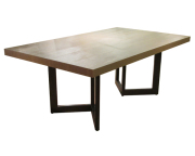 101281 STEEL DINING TABLE
