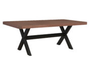 101292 STEEL TRESTLE DINING TABLE