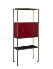 101294 STEEL/WOOD ETEGERE BAR UNIT